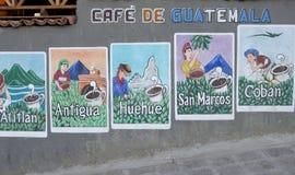 Guatemalan Coffee Advertisements Stock Photography