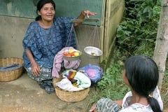 Guatemalan Female street vendor selling food Royalty Free Stock Photography