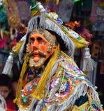 Guatemalan fiesta Masked dancer Stock Photos