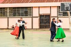 Guatemalan folk dancing couples, Guatemala stock photo
