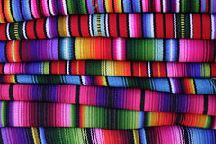 Guatemalan hand-woven blankets Royalty Free Stock Photography