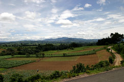 Guatemalan Highlands. The western highlands are seen in Chimaltenango, Guatemala Stock Image