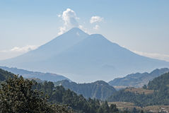 Guatemalan Highlands with volcanoes Stock Images