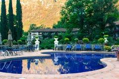 Guatemalan hotel pool. A hotel pool at Lake Atitlan in Guatemala Stock Photos
