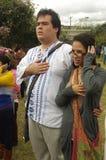 Guatemalan national anthem. Salute during Guatemalan national anthem Royalty Free Stock Photos