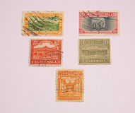 Guatemalan Postage Stamps Royalty Free Stock Photos