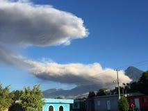 Guatemalan volcano erupting. Guatemalan volcano fog Royalty Free Stock Images