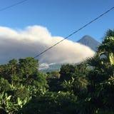 Guatemalan volcano erupting. Guatemalan volcano fog Stock Photo