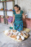 Guatemalan woman weaving Royalty Free Stock Images