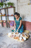 Guatemalan woman weaving Stock Photography