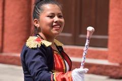 Guatemalansk dansare för skolamusikband Royaltyfri Bild