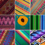 Guatemaltekische gesponnene Decken und Gewebe Stockfotografie