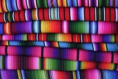 Guatemaltekische hand-gesponnene Decken Lizenzfreie Stockfotografie