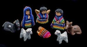 Guatemaltekische Krippe Stockfotos