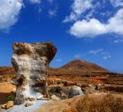Guatiza teguis stones volcanic Lanzarote Stock Photos