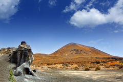 Guatiza teguis stones volcanic Lanzarote Stock Photo