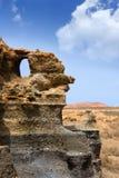 Guatiza teguis stones volcanic Lanzarote Royalty Free Stock Photos
