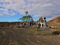 Guatiza teguis. Volcanic stones at Lanzarote Canary Islands, Spain Stock Photo