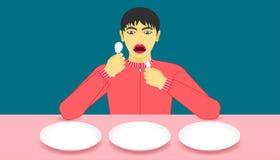 guau i recomendó que parecer de la comida delicioso muestre su producto en plato Fondo hermoso del color ejemplo eps10 libre illustration