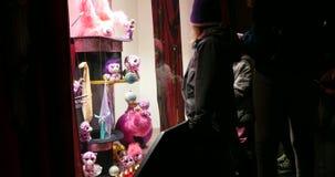 Guau, la Navidad de las compras de la ventana, Francia almacen de video
