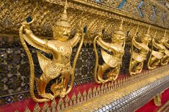 Guaudas, Wat Phra Kaeo Thailand, Stock Foto's