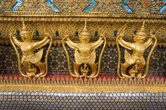 Guaudas,Wat Phra Kaeo Thailand, Royalty Free Stock Photos