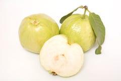 Guava изолированный на белой предпосылке стоковые изображения
