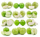 Guava and apple on white background Royalty Free Stock Photography