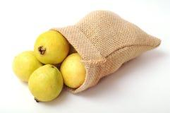 Guava in burlap bag Stock Photography