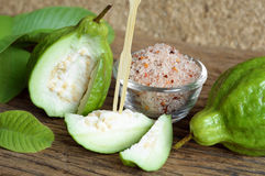 Guava with condiment Stock Photo