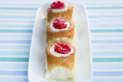 Guava Cream Cheese Custard Rolls Royalty Free Stock Photos