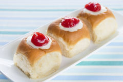 Guava Cream Cheese Custard Rolls Stock Photos
