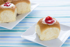 Guava Cream Cheese Custard Rolls Stock Image