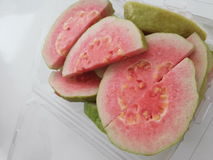Guava. This fresh fruit is guava . delicious. high nutrition. have red color Stock Images