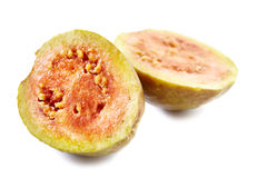 Guava fruit cut in half Royalty Free Stock Image