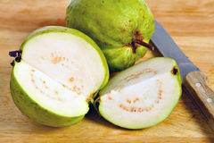 Guava fruit cut open Royalty Free Stock Photography