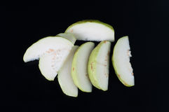 Guava fruit has green skin , vitamin C. Stock Photo