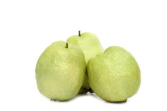 Guava fruit isolated on white Stock Photography