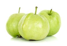 Guava fruit isolated on the white background Royalty Free Stock Images