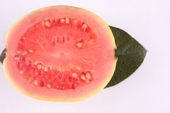 Guava fruit WITH LEAF. Royalty Free Stock Image