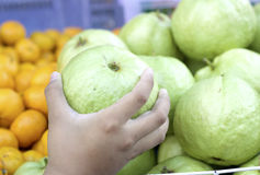 Guava fruit in the market Stock Image