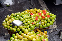 Guava fruit on a market stall Royalty Free Stock Image