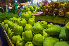 Guava on fruit shelf sale in night fair Stock Images