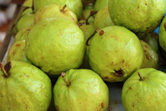 Guava fruit on a table in the market Royalty Free Stock Image