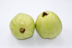 Guava fruit. On white background Stock Photos