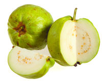 Guava fruits over white Royalty Free Stock Images