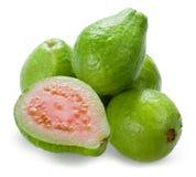 Guava. Grupa z połówką na bielu obraz royalty free