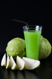 Guava on the black background Stock Photography
