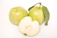 Guava isolated on white background Stock Images