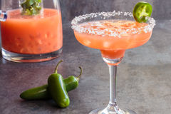 Guava Jalapeno Margarita stock photo